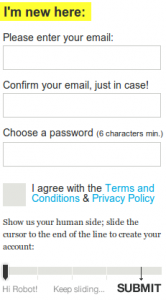 Captcha chez They make apps