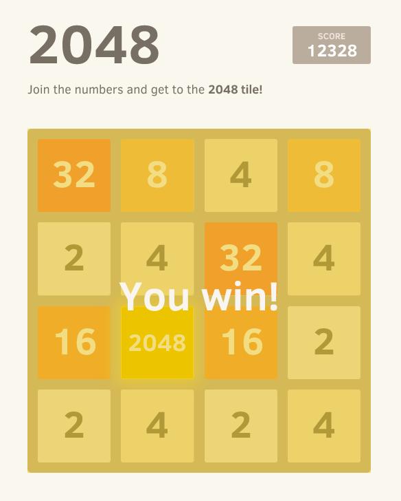 2048 le jeu